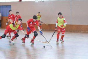 Jeunes joueurs de rink hockey